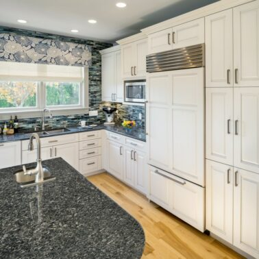 kitchen remodels - Custom center island counter top in Rhode Island home