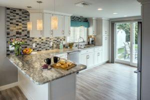 Kitchen Remodeling - custom tile backsplash - Rhode Island home