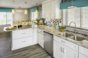 Kitchen Remodeling - Custom countertops in luxury coastal Rhode Island home