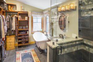 Bathroom Remodel - Custom glass shower enclosure Rhode Island home