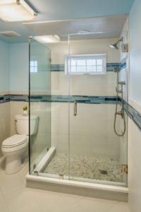 Bathroom Remodel - Glass shower enclosures Rhode Island luxury coastal home