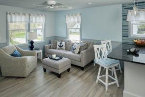 Home Remodel - Ceiling fan - Bar light in luxury coastal Rhode Island home