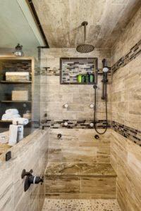 Bathroom Remodel - Custom shower fixtures Rhode Island luxury coastal home